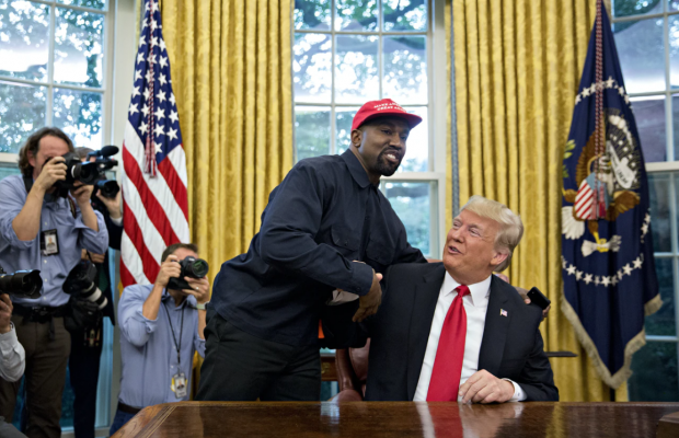 Kanye West Backs Trump's 2020 Re-Election Bid