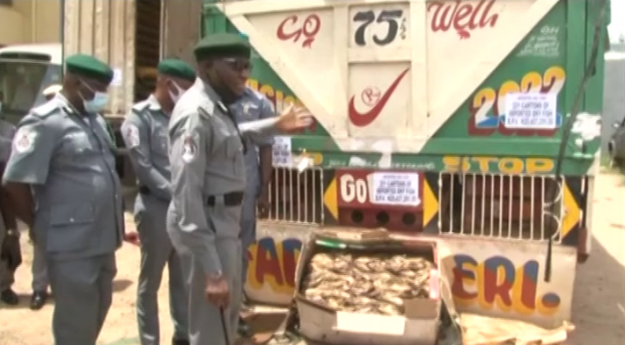 Customs Impound N20.4m Imported Dry Fish in Oyo