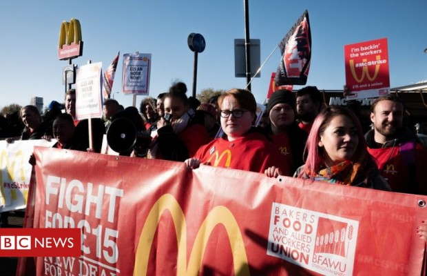 Mcdonald's UK staff join global day of protests
