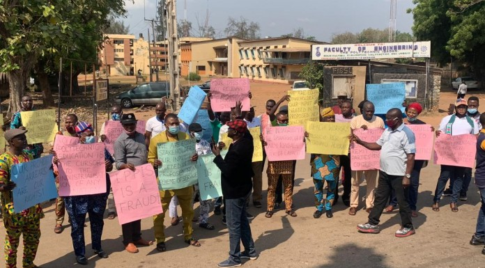 Polytechnic Workers Protest in Ibadan over Salaries, IPPIS, Others