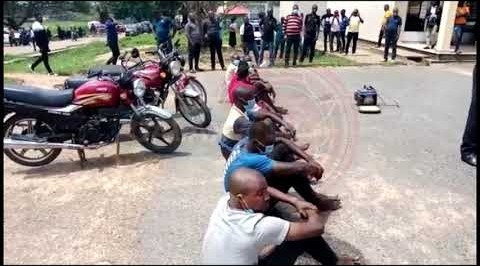 Police arrest 9 suspects in Oyo State in connection with unlawful assembly during #EndSARS Protest.