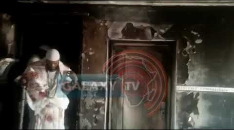 See What Fire Did to Sunday Igboho's House in Ibadan