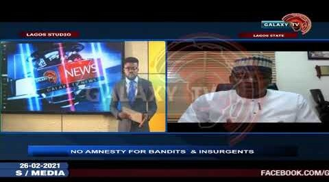 Onyekachi Adekoya speaks on No Amnesty for Bandits and Insurgents.