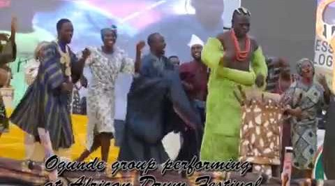 Whaoh!  Ogunde group performs @African drum festival
