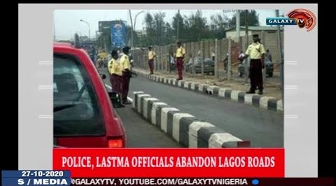 Police, LASTMA Officials Abandon Lagos Roads.