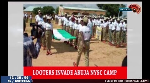 Looters Invade Abuja NYSC Camp